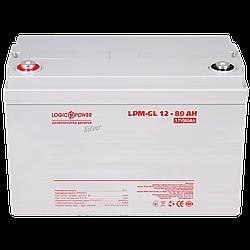 Акумулятор гелевий LP-GL 12V - 80 Ah Silver