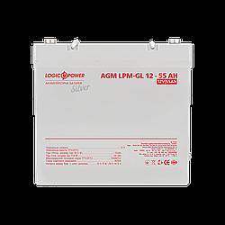 Акумулятор гелевий LP-GL 12V - 55 Ah Silver