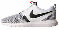 """Мужские кроссвки Nike Roshe Run Breeze NM """"White/Black"""", найк, роше ран"""