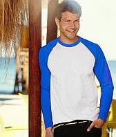 Лонгслив мужской с синим рукавом