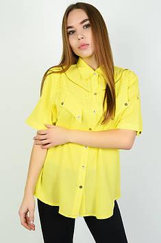 Блуза жіноча жовта Уцінка ААА 137811T