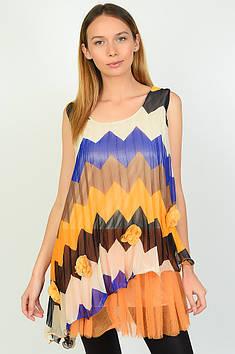 Блуза жіноча помаранчева Уцінка розмір 44-46 AAA 136617T