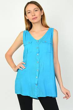 Блуза жіноча блакитна Уцінка AAA 135821T