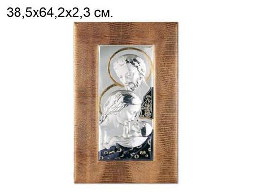 Икона Девы Марии с младенцем, посеребреная  купить недорого