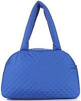 Стильная синяя женская сумка-саквояж  из болоньи POOLPARTY ns4-eco-brightblue