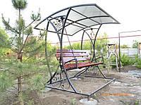 Качеля садовая с крышой