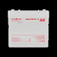 Аккумулятор гелевый LP-GL 12V - 55 Ah Silver