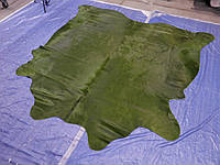 Шелковистая темно зеленая коровья шкура на пол для современного интерьера в Одессе