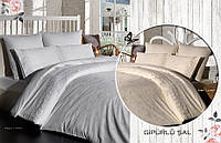 Постельное белье Prima Casa Damask Beyaz жаккард кружевной бамбук Евро