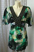 Туника женская летняя яркая нарядная бренд Per Una р.48 5299, фото 1
