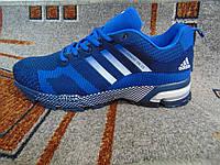 Мужские кроссовки Adidas Marathon TR 13 синие  с белым , фото 1