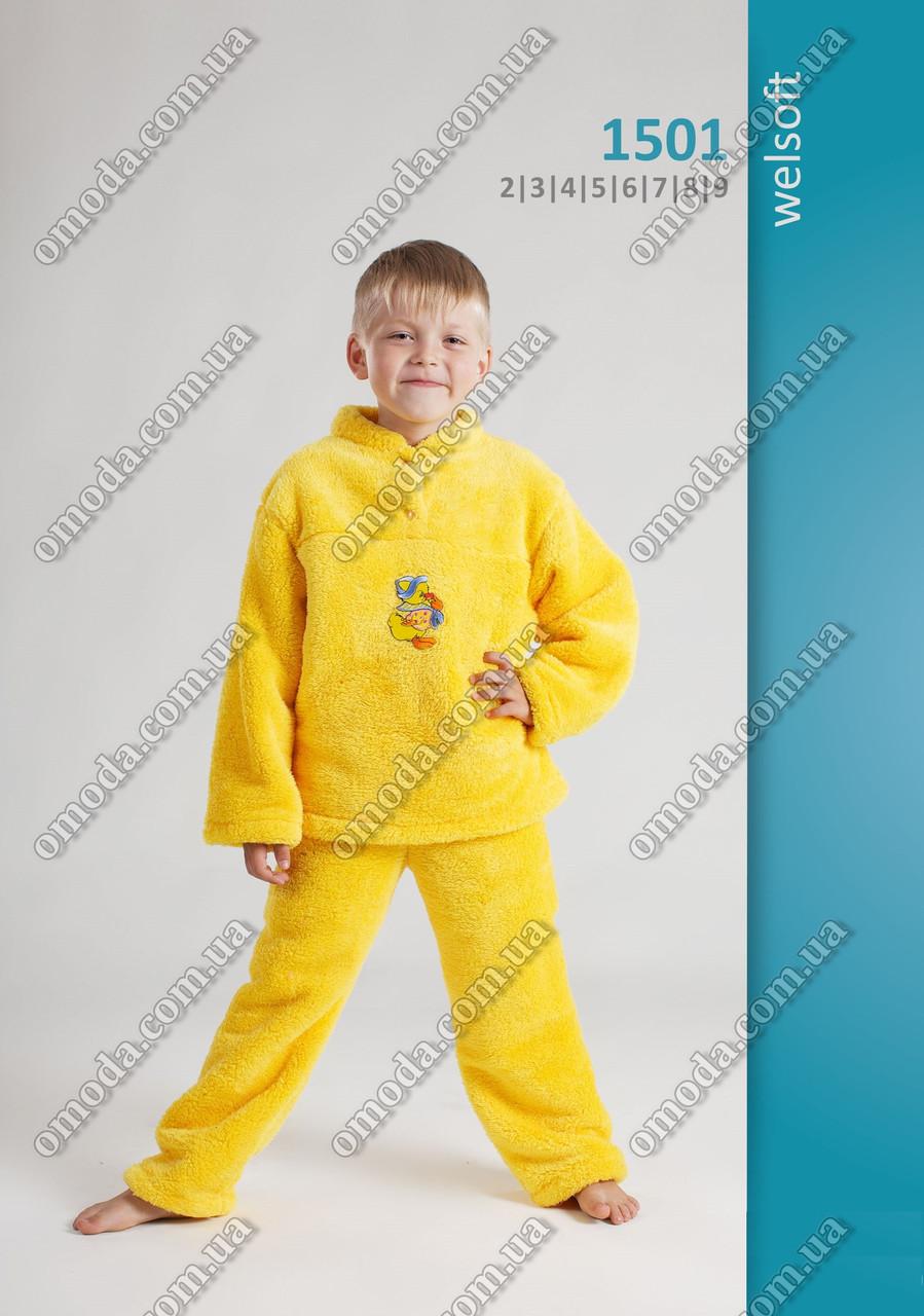 Яркая детская пижама софт-махра 10-11