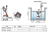 Pedrollo BCm 15/50 ST (нерж) 10 м, 1100 Вт, 45  м3/ч, 15 м Насос, погружной, фекальный, дренажный , фото 4