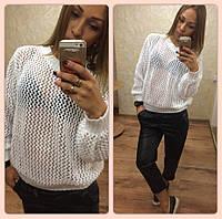 Женский свитер сетка