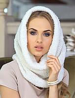 Мягкий снуд из мелкого букле от Kamea - Diana Женский, Kamea, 56-59, Зима, Польша, белый