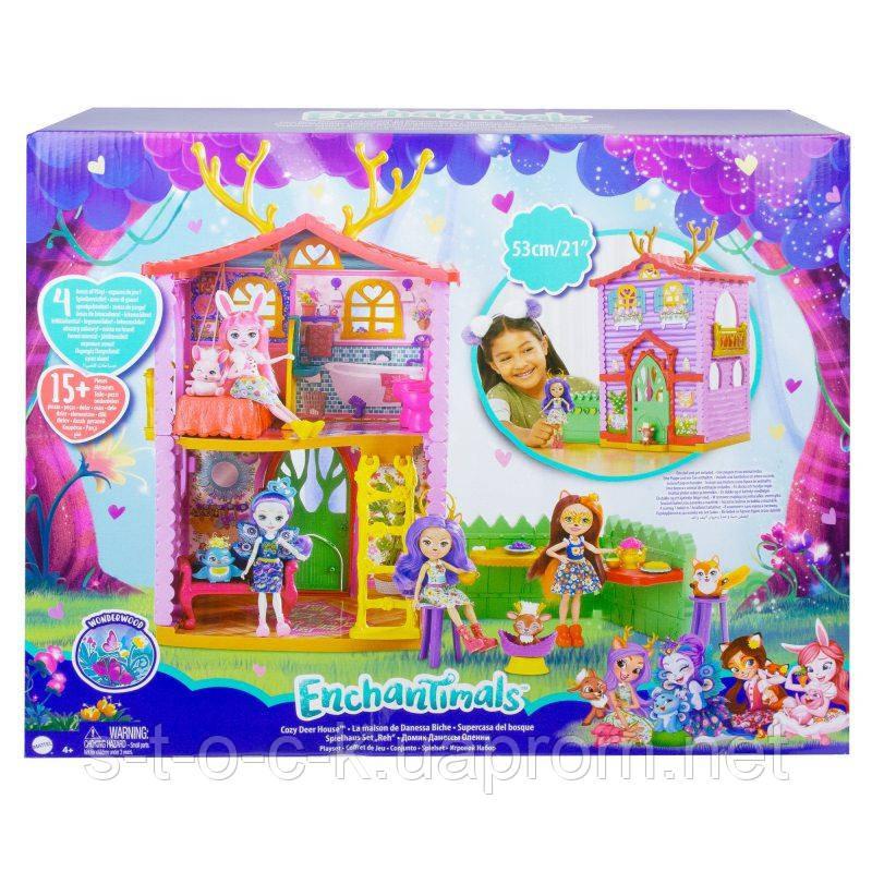 Детский игровой набор Mattel Enchantimals Маленький  Домик Данессы Оленни