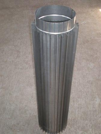 Труба-радіатор ф 200 нержавіюча сталь 0.8 мм 1 м
