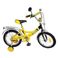 Двухколесный велосипед 16 дюймов Profi P1647 Original , желтый