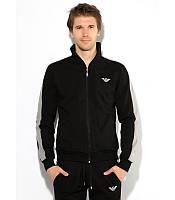 Мужской спортивный костюм Armani черный, фото 1