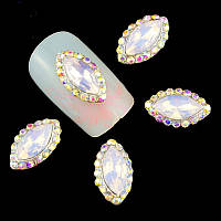 Декоративный элемент Pink Opal.Размер 7*11мм .Цена за 1шт