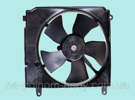 Вентилятор радиатора основной в сборе Ланос, Сенс с кондиционером GM Корея