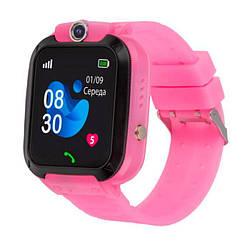 Дитячі розумні годинник AmiGo GO007 FLEXI GPS Pink