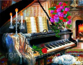 Вышивка бисером рояль