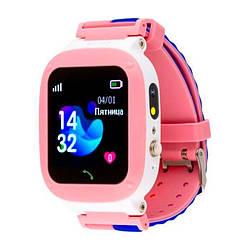 Детские умные часы AmiGo GO004 Splashproof Camera LED Pink