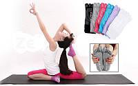 Носки для йоги и танцев с пальцами (4945-5) голубой