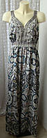 Платье женское летнее легкое декор сарафан макси бренд Papaya р.54 5304а