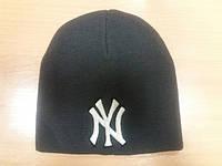 Шапка NY лого Нью-Йорк вязанная компьютерная вышивка
