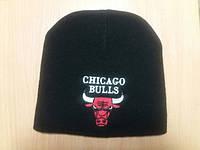 Шапка зимняя унисекс chicago bulls, чёрная, красная, белая, серая, синяя