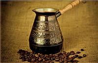 """Турка для кофе медная (400 мл) """"Райские птицы"""""""