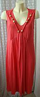 Платье женское летнее сарафан вискоза стрейч миди бренд Marks&Spencer р.52 5330
