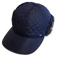 Кепка зимняя ASSA плащевка/мех М, синяя