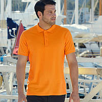 Оранжевая мужская рубашка поло Premium