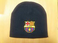 Молодёжная шапка  вязанная с  вышивкой ФСБ (шеврон FSB)