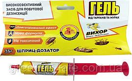 Шприц-гель от тараканов Вихор с запахом карамели 35 г.
