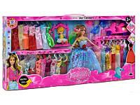 Кукла с нарядом (27 платьев и акссесуары) Гардероб Y 02 А-2, разноцветные