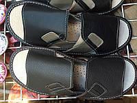 Мужские тапочки оптом 41-44 или 41-46 с серой  вставкой, фото 1