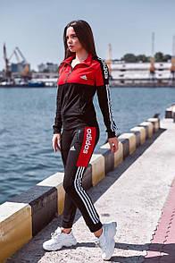 Спортивний костюм Адідас червоно-чорного кольору 42
