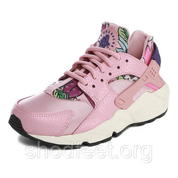 Женские кроссовки Nike Air Huarache Print Pink/Purple