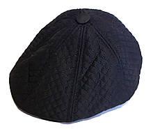 Кепка теплая восьмиклинка хулиганка Fashion плащевка/флис 57 см, черная