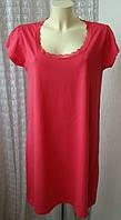Платье женское легкое летнее хлопок стрейч мини бренд Zeeman р.50-52 5331