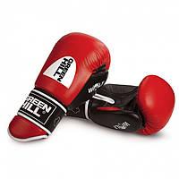 """Перчатки боксерские """"WOLF"""" Green Hill кожа 12 oz черные"""