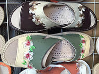 Женские тапочки оптом 37-40 коричневые , фото 1