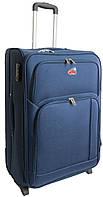 Большой тканевый 2-колесный чемодан 95 л. Suitcase 913755-blue