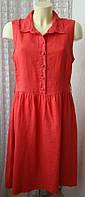 Платье женское летнее льняное лен миди бренд John Lewis р.46 5332