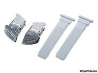 Застежки с ремешками Shimano LargeType, серебристо-белые