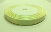Лента атлас 1 см желтая светлая